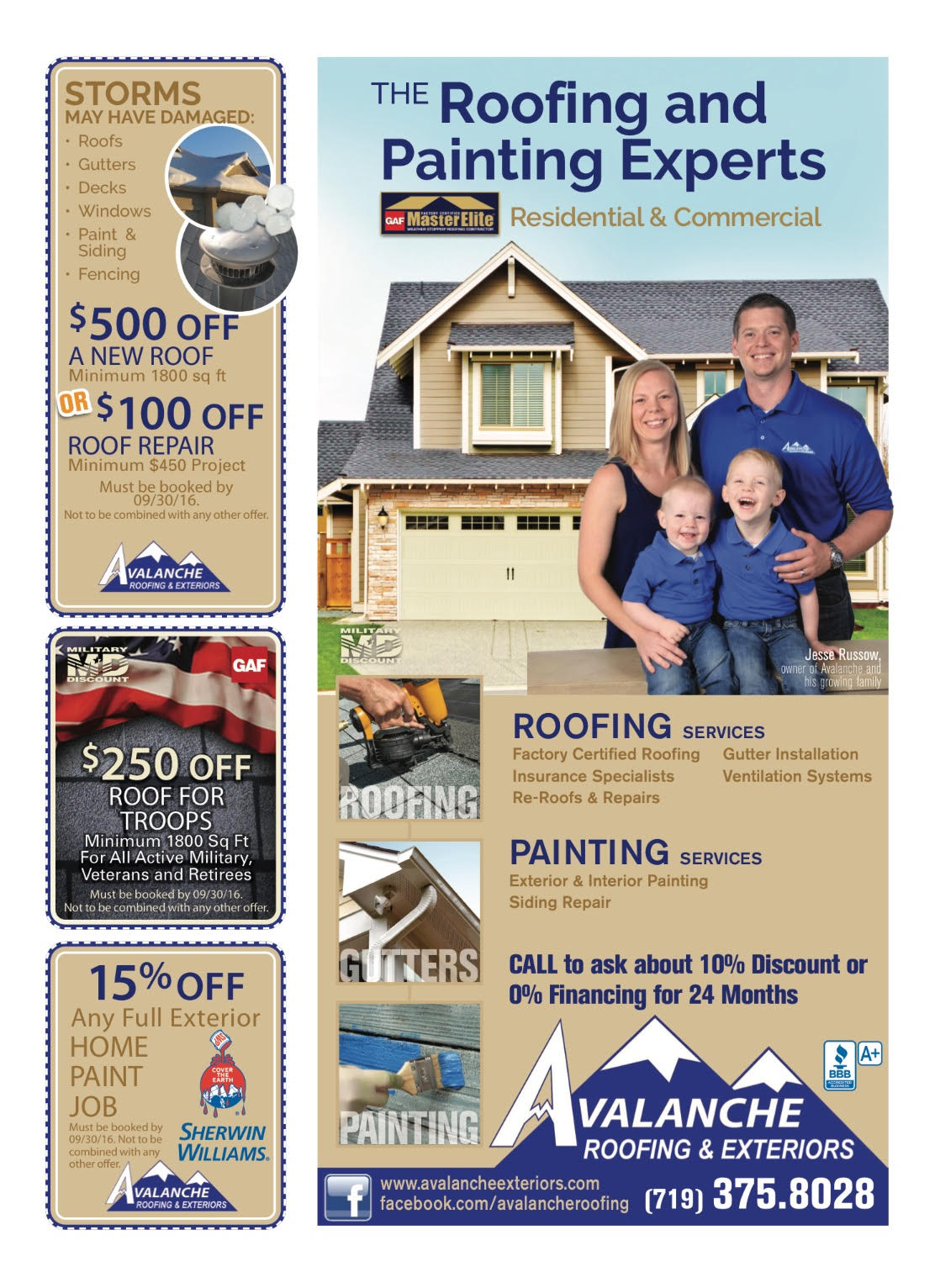 Avalanche Roofing & Exteriors Family Photo